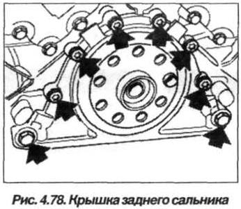 Рис. 4.78. Крышка заднего сальника БМВ Х5 Е53 М62