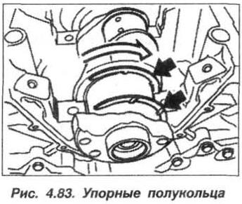 Рис. 4.83. Упорные полукольца БМВ Х5 Е53 М62