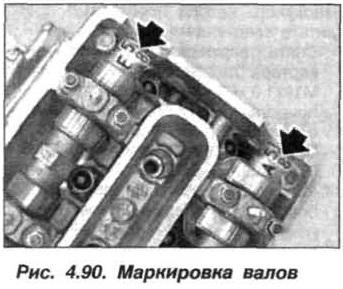Рис. 4.90. Маркировка валов БМВ Х5 Е53 М62