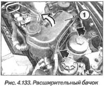 Рис. 4.133. Расширительный бачок БМВ Х5 Е53 М62