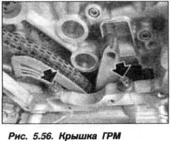 Рис. 5.56. Крышка ГРМ БМВ Х5 Е53 N62