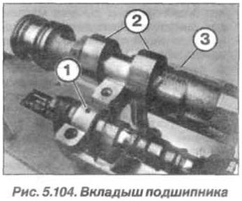 Рис. 5.104. Вкладыши подшипника БМВ Х5 Е53 N62