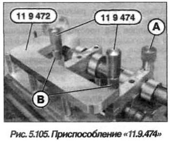 Рис. 5.105. Приспособление 11.9.474 БМВ Х5 Е53 N62