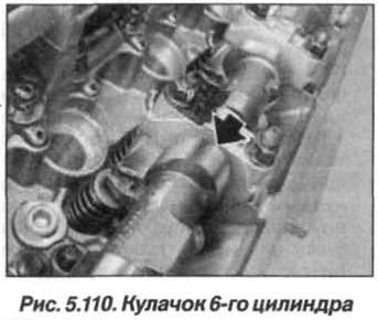 Рис. 5.110. Кулачок 6-го цилиндра БМВ Х5 Е53 N62