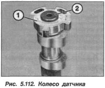 Рис. 5.112. Колесо датчика БМВ Х5 Е53 N62