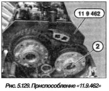 Рис. 5.129. Приспособление 11.9.462 БМВ Х5 Е53 N62