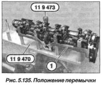 Рис. 5.135. Положение перемычки БМВ Х5 Е53 N62
