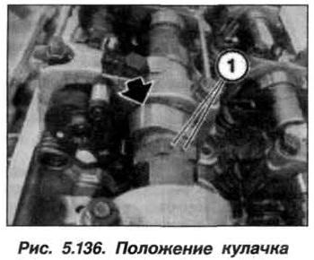 Рис. 5.136. Положение кулачка БМВ Х5 Е53 N62