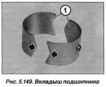 Рис. 5.149. Вкладыш подшипника БМВ Х5 Е53 N62