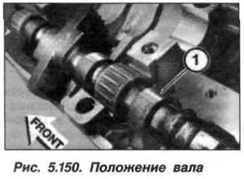 Рис. 5.150. Положение вала БМВ Х5 Е53 N62