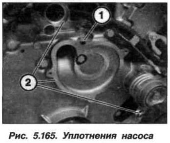 Рис. 5.165. Уплотнения насоса БМВ Х5 Е53 N62