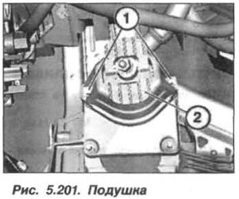 Рис. 5.201. Подушка БМВ Х5 Е53 N62