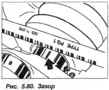 Рис. 5.80. Зазор БМВ Х5 Е53 N62