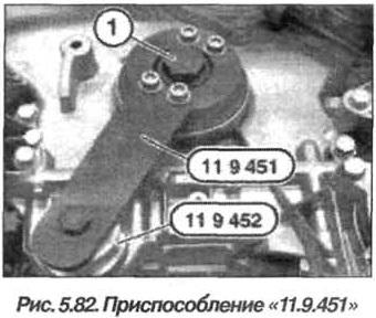 Рис. 5.82. Приспособление 11.9.451 БМВ Х5 Е53 N62