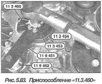 Рис. 5.83. Приспособление 11.3.460 БМВ Х5 Е53 N62