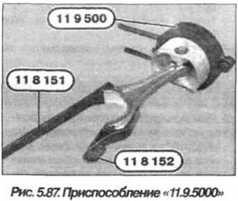 Рис. 5.87. Приспособление 11.9.5000 БМВ Х5 Е53 N62