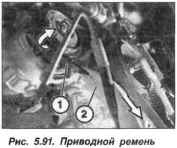 Рис. 5.91. Приводной ремень БМВ Х5 Е53 N62