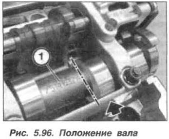 Рис. 5.96. Положение вала БМВ Х5 Е53 N62
