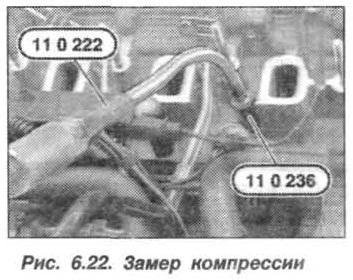 Рис. 6.22. Замер компрессии БМВ Х5 Е53
