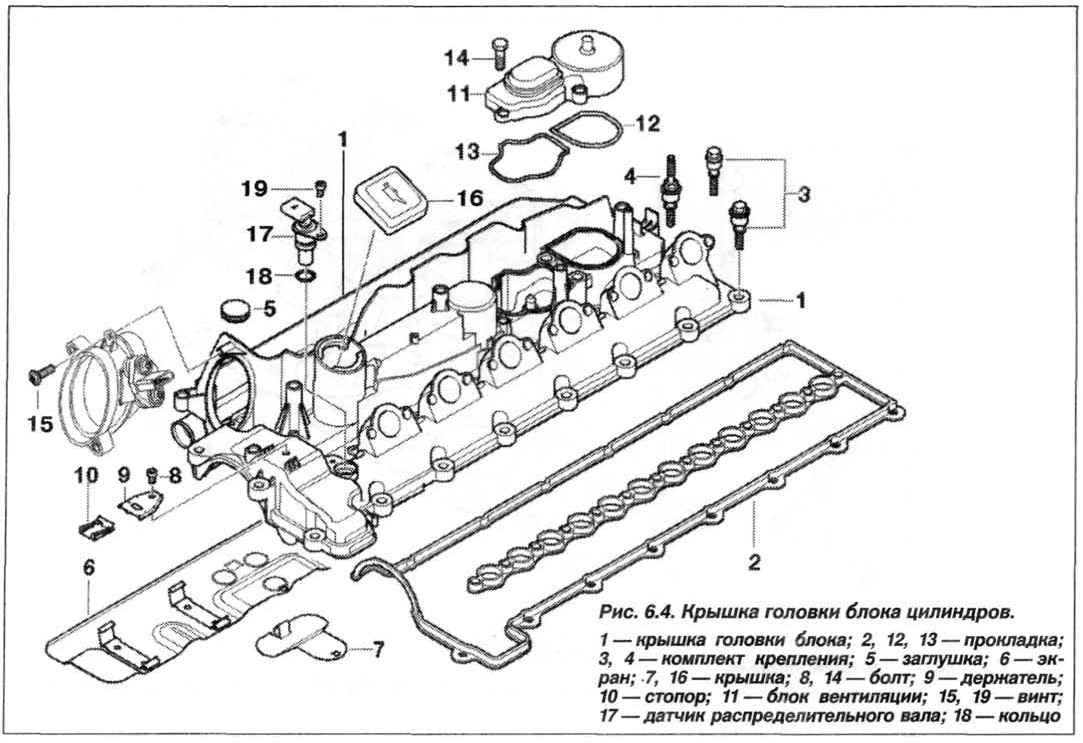 Рис. 6.4. Крышка головки блока цилиндров БМВ Х5 Е53
