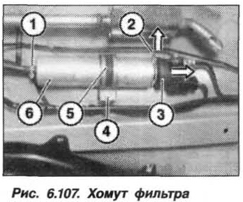 Рис. 6.107. Хомут фильтра БМВ Х5 Е53