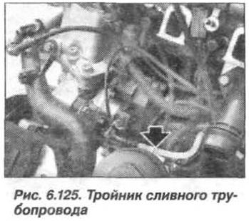 Рис. 6.125. Тройник сливного трубопровода БМВ Х5 Е53