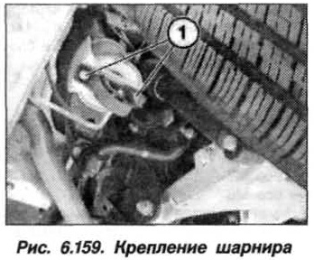 Рис. 6.159. Крепление шарнира БМВ Х5 Е53