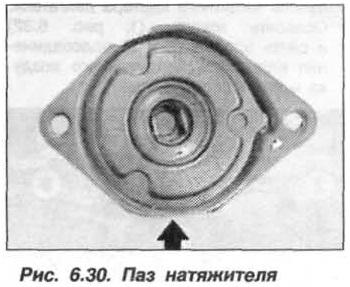 Рис. 6.30. Паз натяжителя БМВ Х5 Е53