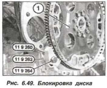 Рис. 6.49. Блокировка диска БМВ Х5 Е53