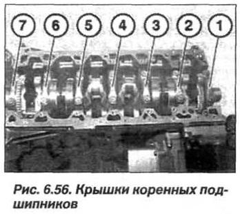 Рис. 6.56. Крышки коренных подшипников БМВ Х5 Е53