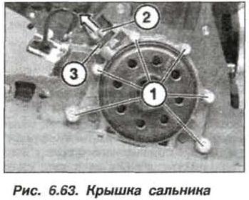 Рис. 6.63. Крышка сальника БМВ Х5 Е53