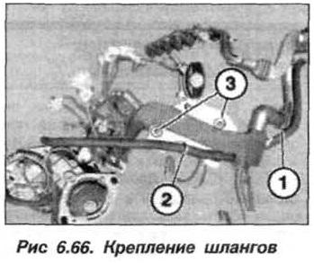 Рис. 6.66. Крепление шлангов БМВ Х5 Е53