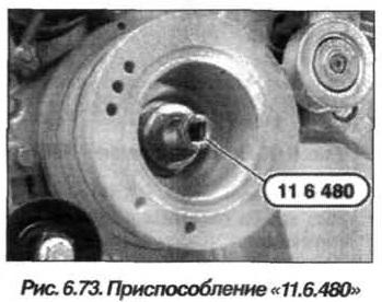 Рис. 6.73. Приспособление 11.6.480 БМВ Х5 Е53