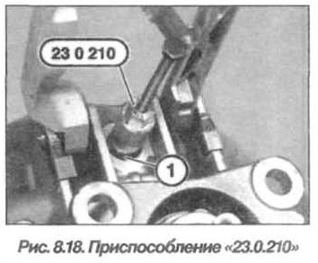 Рис. 8.18. Приспособление 23.0.210 БМВ Х5 Е53