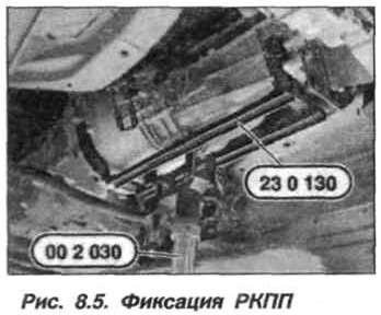 Рис. 8.5. Фиксация РКПП БМВ Х5 Е53