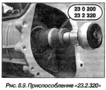 Рис. 8.9. Приспособление 23.2.320 БМВ Х5 Е53