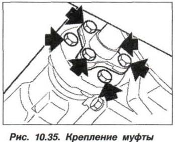 Рис. 10.35. Крепление муфты БМВ Х5 Е53