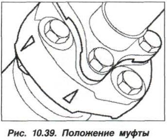 Рис. 10.39. Положение муфты БМВ Х5 Е53