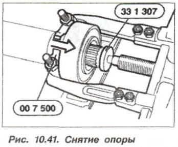 Рис. 10.41. Снятие опоры БМВ Х5 Е53