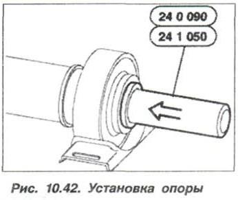 Рис. 10.42. Установка опоры БМВ Х5 Е53