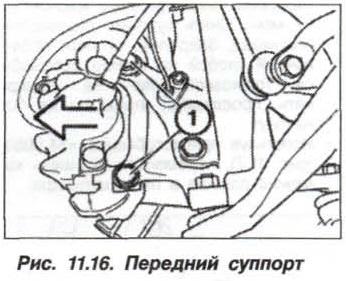 Рис. 11.16. Передний суппорт БМВ Х5 Е53