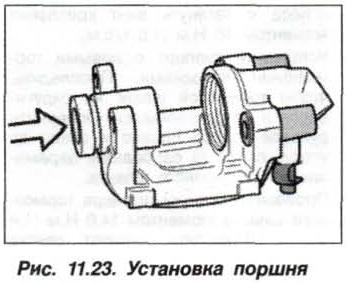 Рис. 11.23. Установка поршня БМВ Х5 Е53