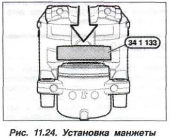 Рис. 11.24. Установка манжеты БМВ Х5 Е53