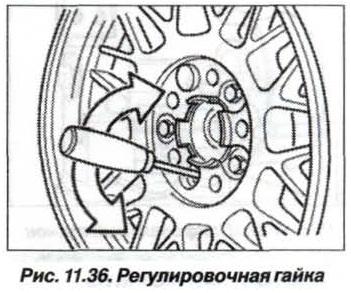 Рис. 11.36. Регулировочная гайка БМВ Х5 Е53