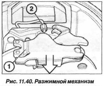 Рис. 11.40. Разжимной механизм БМВ Х5 Е53