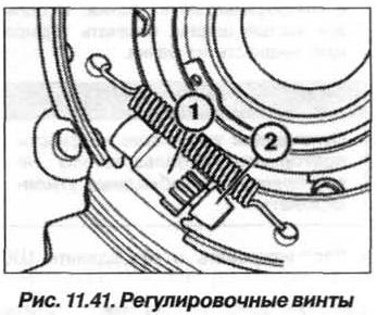 Рис. 11.41. Регулировочные винты БМВ Х5 Е53