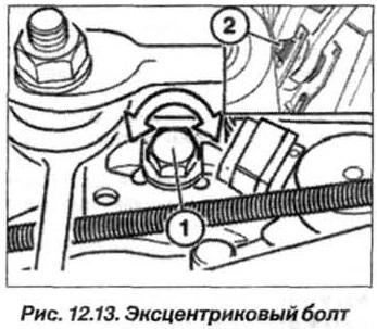 Рис. 12.13. Эксцентриковый болт БМВ Х5 Е53