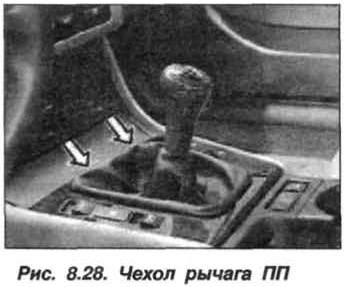 Рис. 8.28. Чехол рычага ПП БМВ Х5 Е53