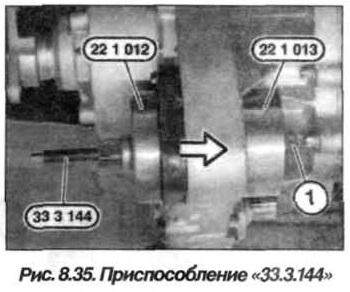 Рис. 8.35. Приспособление 33.3.144 БМВ Х5 Е53