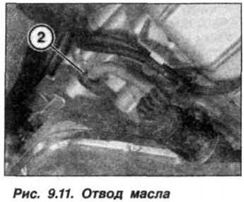 Рис. 9.11. Отвод масла БМВ Х5 Е53
